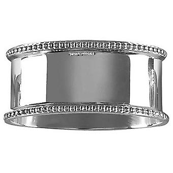 Orton West Detailed Oval Napkin Ring - Silver