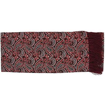 Michelsons of London All Over Paisley Silk Scarf - Burgundy