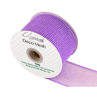 Lavender 6cm x 10m Deco Mesh Roll for Wreath Making, Floristry & Crafts