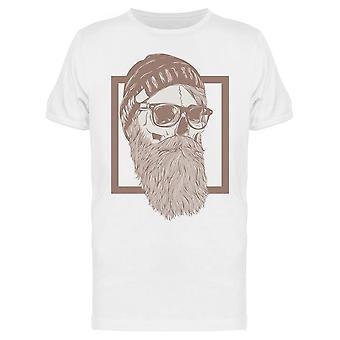 Hipster Parrakas Skull Drawing Tee Men's -Kuva Shutterstock