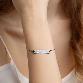 925 Silver Bar Chain Bracelet | Infinity Love