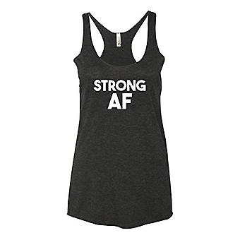 Panoware Women's Funny Racerback Tank Top | Strong AF, Heather Grey, X-Large