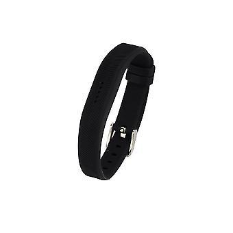 Ersatz Armband Armband Band für Fitbit Flex 2 klassische Schnalle[groß, schwarz]