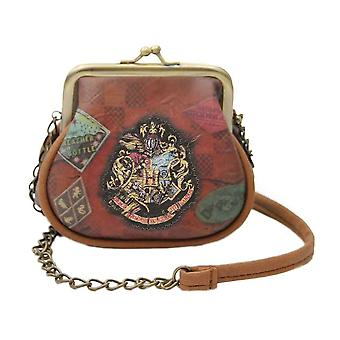Harry Potter Hogwarts Trunk Kiss Lock Purse with Chain