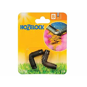Hozelock 90 Elbow Connector (Pack of 2)