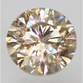 Cert 1.04 Ct Fancy Brown VS1 Runde brillante verbesserte natürliche Diamant 6,22 mm 2VG