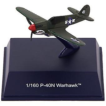 Aereo da caccia della seconda guerra mondiale Die-Cast, scala 1: 160 di P-40N Warhawk