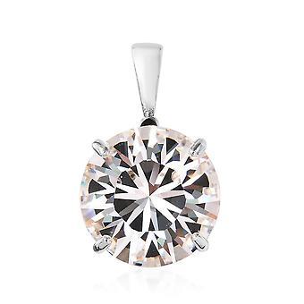 KARIS Solitaire Fabriqué avec Swarovski Crystal Pendant Platinum Bond Brass, 35 Ct