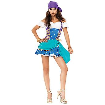 Gypsy Princess Fortune Teller Bohemian Story Book Week Women Costume XL