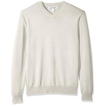 Essentials Men's V-Neck Pullover, Haferflocken Heather, X-Large
