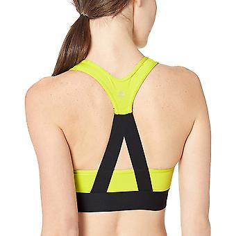 Brand - Core 10 Women's Cross Back Sports Bra with Removable cups, gre...