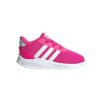 adidas Lite Racer 2.0 Infant Kids Girls Sports Trainer Shoe Pink/White
