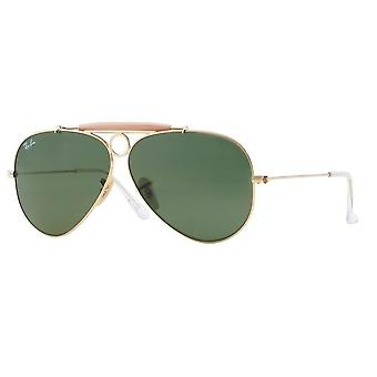 Ray-Ban Shooter RB3138 001 Gold Arista Sunglasses