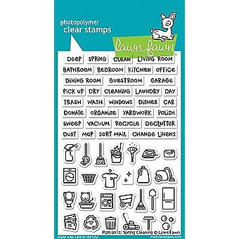 Lawn Fawn Plan on It: Spring Cleaning Clear Stamps