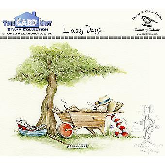 Kortet Hut Lazy Days lear Frimärken
