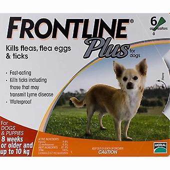 Frontline Plus pour chiens de moins de 10 kg (22lb) - 6 Pipettes