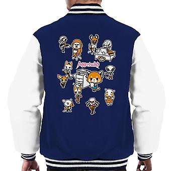 Aggretsuko Accounting Department Montage Men's Varsity Jacket