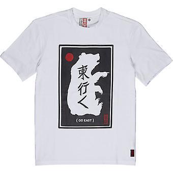 Element Rundhals-Bio-Baumwolle T-Shirt - Östlichen Bären weiß
