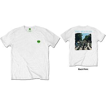White The Beatles Abbey Road & Logo Official Tee T-Shirt Mens Unisex
