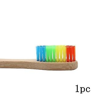 1PC Wooden  Solid Bamboo Handle Soft Fibre - Eco Friendly Teeth Brushes for Adult Oral Care