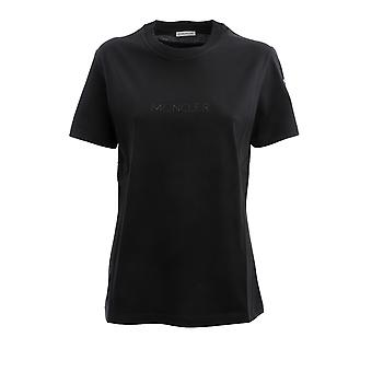Moncler 8c76510v8161999 Women's Black Cotton T-shirt