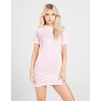 New SikSilk Women's All Over Print T-Shirt Dress Pink