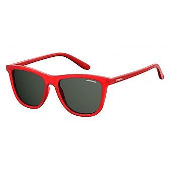 نظارات شمسية للجنسين 8027/SC9A/M9 الأحمر مع زجاج رمادي