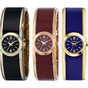 Caravelle New York Women's Round Two-Tone Bangle Watch