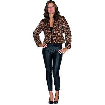 Jakke Leopard Kvinders Animal Costume Jakke Kostume Carnival Jakke Plys