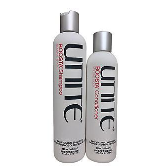 Unite Boosta Daily Volumizing Shampoo 10 OZ & Hoitoaine 8 OZ Set
