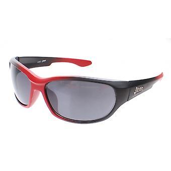 sportzonnebril unisex rood met grijze lens