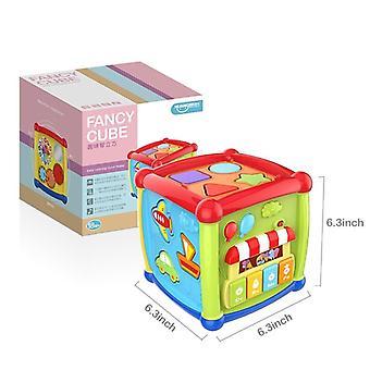 Multifuncional Musical Niño Baby Box, Música Piano Cubo Bloques Geométricos