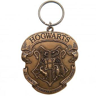 Harry Potter Debossed Metal Keyring Hogwarts