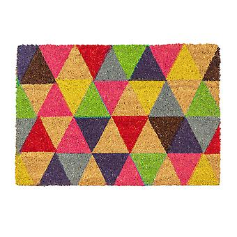 Nicola Spring Nicola Spring antideslizante alfombra de la puerta - Natural Coir interior al aire libre al aire libre al aire libre alfombrillas - 60 x 40cm - triángulos