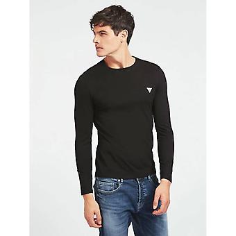GUESS Core Långärmad T-shirt - Jet Svart