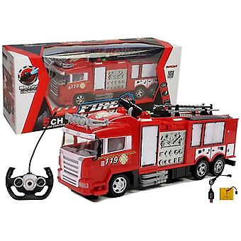 RC fire engine with water cannon & remote control
