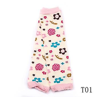 Baby Leg Warmers Girls Cartoon Soft Socks Toddler Cotton Crawling Knee Pads Newborn Floral Printing Kneecap Winter