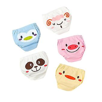 Cute Cartoon Animal Baby Underwear, 5pc/set Breathable Underpants