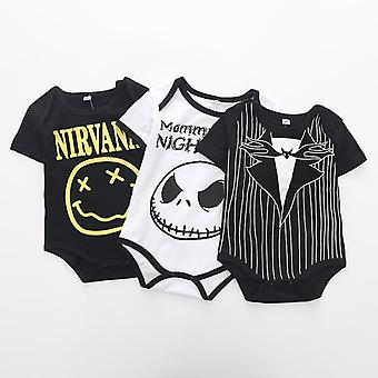 Baby Boys Halloween Bodysuit Mommy's Little Nightmare Printed