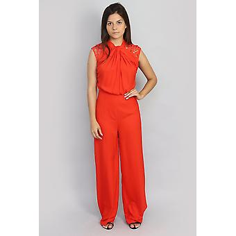 Adelaide chilli lace jumpsuit v93537