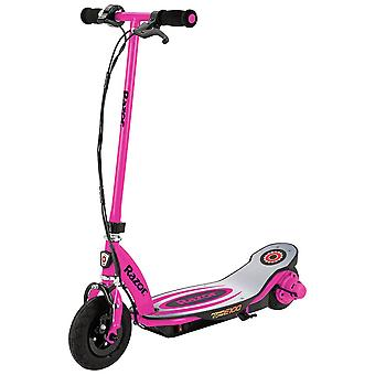Razor pink power core e100 24 volt scooter speeds up to 11 mph, the high torque