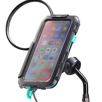 Iphones x / xs moottoripyörä peili asentaa kova tapauksessa pakki