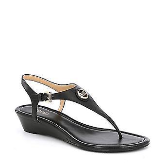 Michael Michael Kors Womens Ramona Leather Open Toe Casual T-Strap Sandals