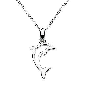 Dew Sterling zilveren Leaping dolfijn hanger 96851HP028
