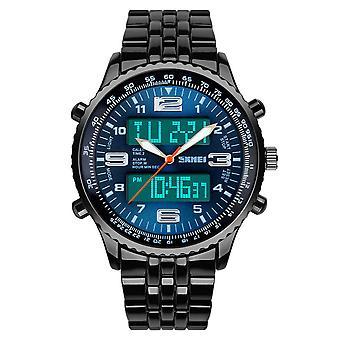 SKMEI 1032 Digital Watch med hög kvalitet i rostfritt stål, men lysande