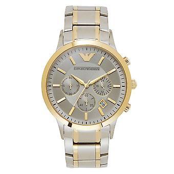 Armani Ar11076 Zilver en goud Heren Roestvrijstalen Horloge
