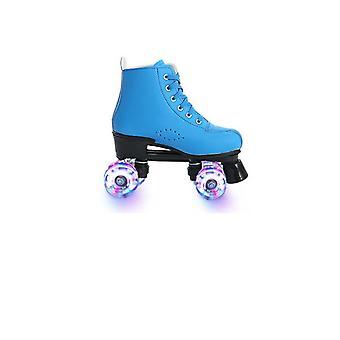 4 عجلات Microfiber الجلود الرول تزلج الأحذية للرجل / امرأة