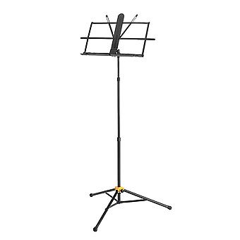 Hercules bs118bb music stand with folding desk and ez grip