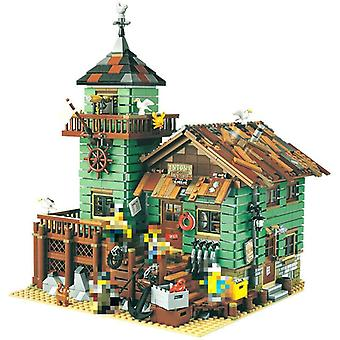 Creator Street View Moc Boat House Dinner The Old Fishing Store Set Modular