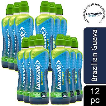 12 Pack of Lucozade Sport Brazilian Guava Sports Drink, 500ml
